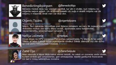 Tvitersāga: Ēterā labklājības ministre