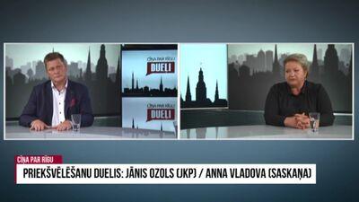 Priekšvēlēšanu duelis: Vladova/Ozols