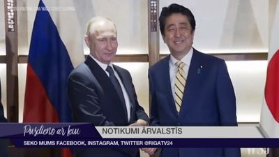 Japānas premjerministrs apņēmies risināt teritoriālās domstarpības ar Krieviju