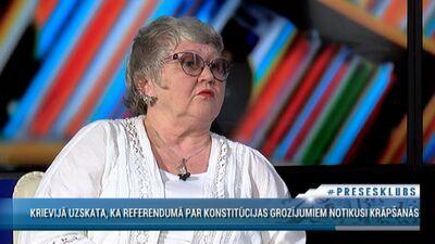 Strautmane: Lai sakārtotu Krieviju, tur tā ar franču smaržām nevar, tur vajag kārtīgu cilvēku