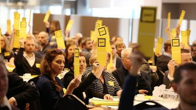 """86% """"Attīstībai/Par!"""" biedru aptaujā nobalsojuši pret dalību Gobzema valdībā"""
