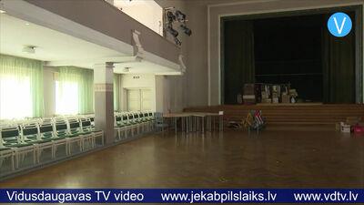 Jēkabpils Tautas nama kolektīvs atbrīvo telpas būvniekiem