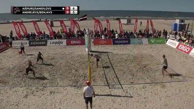 Ergo Open pludmales volejbols: 1. Pusfināls vīriešiem. Spēles ieraksts.