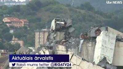 Itālijā sabrucis tilts; vismaz 35 bojāgājušie