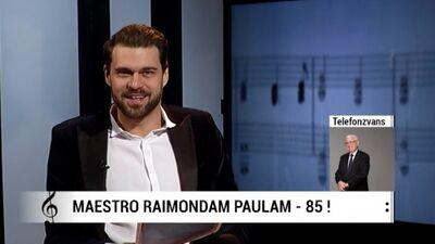 RīgaTV 24 sveic Maestro Raimondu Paulu 85 gadu jubilejā