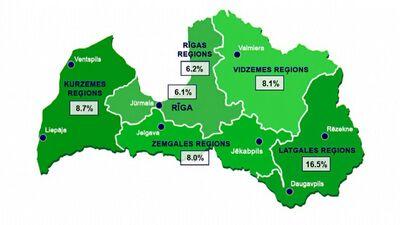 Kāds šobrīd ir bezdarba līmenis Latvijā?