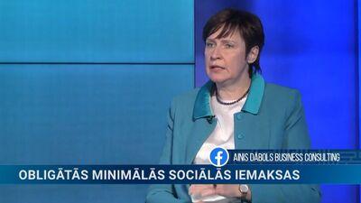 Beķere: Trešdaļa iedzīvotāju maksā sociālās iemaksas, kas ir mazāk kā no minimālās algas