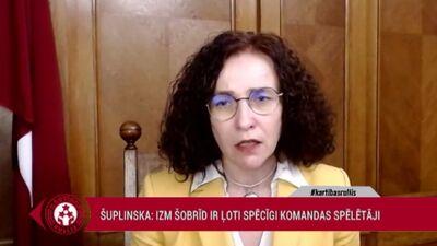 Šuplinska: Es noteikti varēju būt to ministru skaitā, kas zināmu apstākļu dēļ varētu aiziet