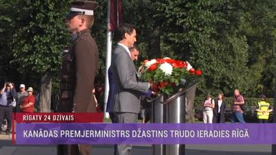 Šodien Rīgā ieradies Kanādas premjerministrs Džastins Trudo