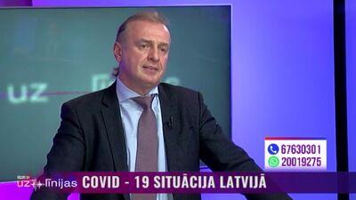 Kardiologs Andrejs Ērglis komentē skatītāja jautājumu par Covid-19 izraisītajām sirds komplikācijām