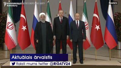 Janvārī Erdogans, Putins un Ruhavi tiksies Maskavā, lai apspriestu situāciju Sīrijā