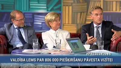 Andris Sprūds par pāvesta vizītes izmaksām: Ja es būtu valdības vadītājs, es to naudu veltītu vēža slimniekiem