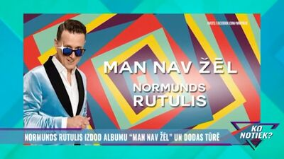 "Normunds Rutulis izdod albumu ""Man nav žēl"" un dodas tūrē"