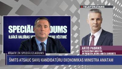 Pabriks par Didža Šmita atteikšanos no ekonomikas ministra amata