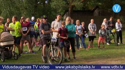 Tautas triatlons Jēkabpils Mežaparkā