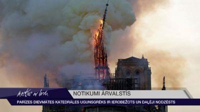 Traģēdija Eiropai - postošais ugunsgrēks Parīzes Dievmātes katedrālē