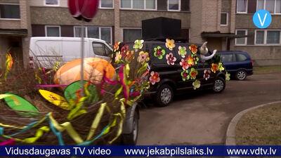 Jēkabpilī par svētku atmosfēru gādā Lieldienu busiņš