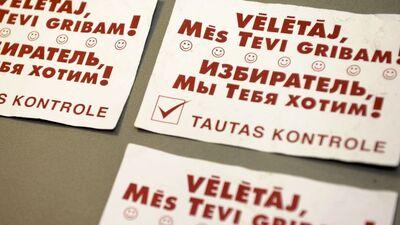 NA: Priekšvēlēšanu aģitācijai jābūt tikai latviešu valodā