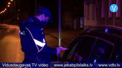 Jēkabpils novadā pirmajā komandantstundas naktī pārbauda 125 cilvēkus
