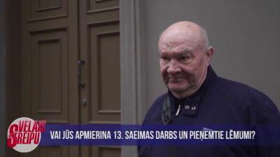 Sabiedrība par 13. Saeimas darbu un pieņemtajiem lēmumiem