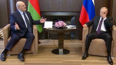 Ko pastāsta Lukašenko un Putina ķermeņa valoda?