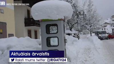 Austrijā izveidojusies dziļākā sniega sega pēdējo 100 gadu laikā!