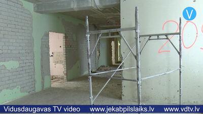 Būvdarbi Jēkabpils Valsts ģimnāzijā iekavēti
