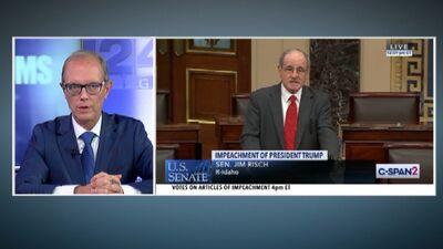 Speciālizlaidums: Senāts turpina debates par Trampa impīčmentu 1. daļa