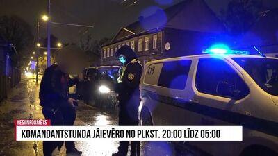 Reportāža: Komandantstundas ievērošana Rīgā