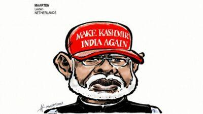 Karikatūru apskats: Strīdīgais Kašmiras jautājums