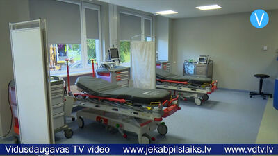 Jēkabpils slimnīcas pacienti tiek uzņemti atjaunotajās Uzņemšanas nodaļas telpās.