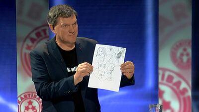 Raidījuma laikā sociologs Freimanis rada zīmējumu. Ko tas nozīmē?
