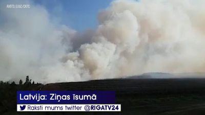 Dūmi no ugunsgrēka Valdgales pagastā var būt redzami arī apkārtējos novados