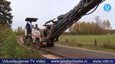 Līvānu novadā sāk atjaunot autoceļu uz Draudzes kapiem
