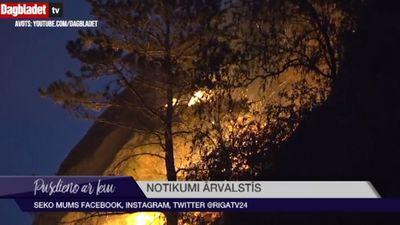 Zviedrijā un Norvēģijā plosās mežu ugunsgrēki