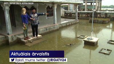 Kā izskatās pasaulē visātrāk grimstošā pilsēta Džakarta?