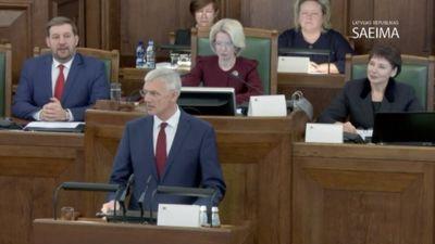 Krišjāņa Kariņa uzruna Saeimas sēdē