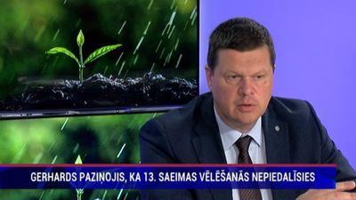 Kaspars Gerhards nepiedalīsies 13. Saeimas vēlēšanās
