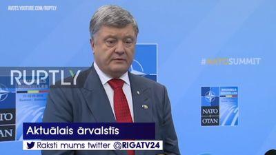 Porošenko: Ukraina `de facto` kļuvusi  par NATO austrumu flangu