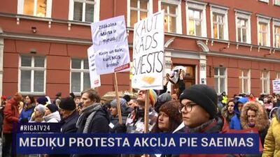 Speciālizlaidums: Mediķu protesta akcija pie Saeimas 1. daļa