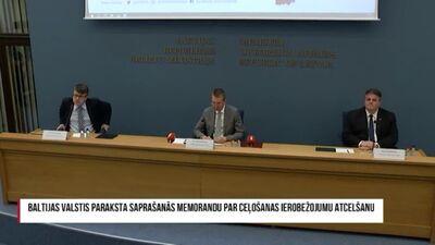 Speciālizlaidums: Baltijas valstu ārlietu ministri paraksta saprašanās memorandu