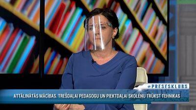 """Stepaņenko par attālinātajām mācībām: Problēmas ir """"tur augšā"""" pie Kariņa un Šuplinskas"""