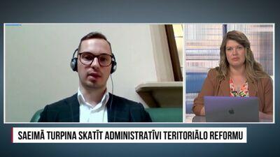 Saeima turpina skatīt administratīvi teritoriālo reformu