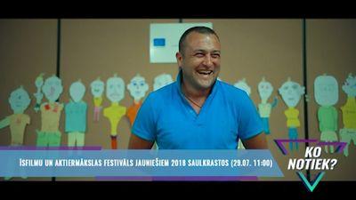 Īsfilmu un aktiermākslas festivāls jauniešiem 2018