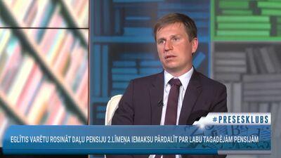 Kaspars Rožkalns par iespējamo pensiju 2. līmeņa pārdali par labu tagadējām pensijām