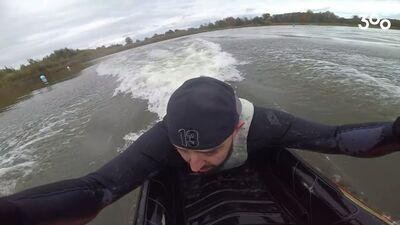 Kas notika, kad Vidzis izmēģināja ūdens motociklu?