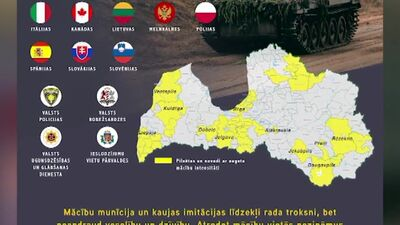 """Kur Latvijas teritorijā norisināsies militārās mācības """"Namejs 2020""""?"""