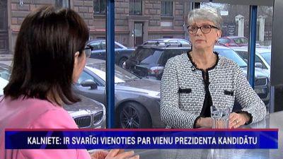 Kalniete: Ir svarīgi vienoties par vienu prezidenta kandidātu