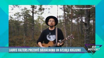 Lauris Valters prezentē soloalbumu un dzejoļu krājumu