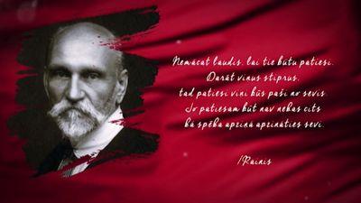 Raiņa citāts Latvijas simtgadei